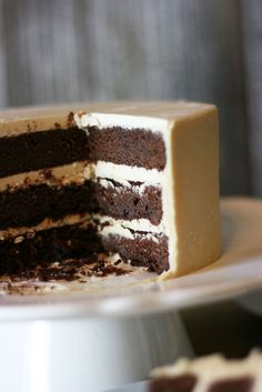 Buttermilk Chocolate Cake with Butterscotch Buttercream | Cake Paper Party