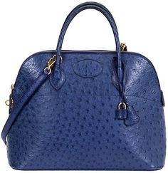 One Kings Lane Vintage Hermès 35cm Ostrich Bolide Bag