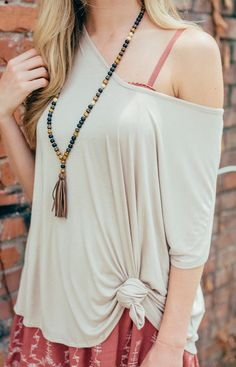Shop Lizard Thicket - V-Back Day Top in Tan, $26.50 (http://www.shoplizardthicket.com/v-back-day-top-in-tan/)