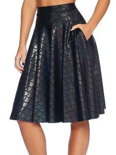 Merman Pocket Midi Skirt - LIMITED (AU $90AUD) by Black Milk Clothing
