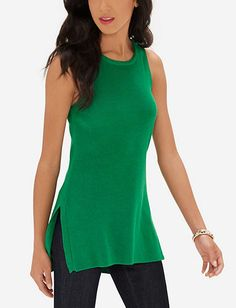 Sleeveless Sweater Tunic from THELIMITED.com
