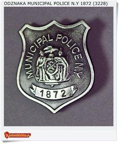 Odznaka Miejskiego Policjanta - USA Municipal Police N.Y 1872