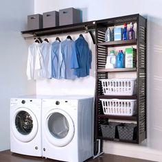 Laundry Room Layouts, Laundry Room Remodel, Basement Laundry, Small Laundry Rooms, Laundry Room Organization, Laundry Room Design, Laundry Organizer, Storage Organization, Storage Ideas