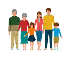 三世代家族 Three generation family #illustration #people