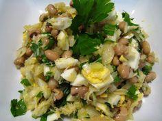 Salada de Bacalhau com Feijão Frade – Salt Cod and Black Eyed Pea Salad recipe from Tia Maria's Blog