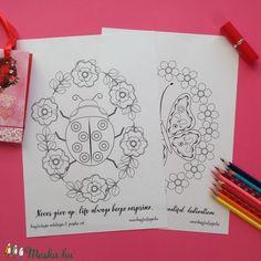 Virágok és álmok színező (Krisztadesign) - Meska.hu Bullet Journal