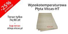 Wysokotemperaturowa Płyta Vitcas-HT jest alternatywą dla płyt gipsowo-kartonowych. Obecnie w naszym sklepie w promocji -25%: http://sklep.vitcas.pl/pl/p/Wysokotemperaturowa-Plyta-Vitcas-HT-600x800x12mm-alternatywa-dla-plyt-gipsowo-kartonowych-650-C-/294.