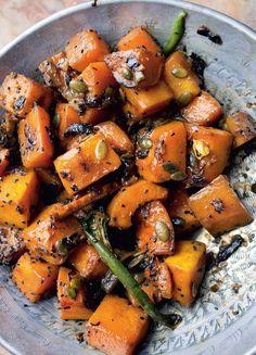 Courge butternut à la cardamome et aux graines de nigelle