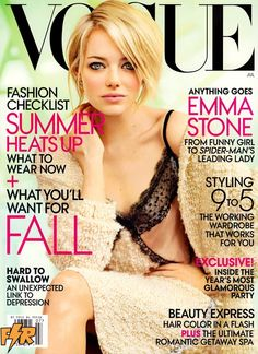Emma Stone on the cover of July's Vogue, looking gorgeous!