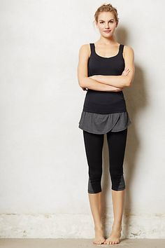 Pure + Good Skirted Compression Crop Leggings-- increase blood flow during workout and decrease recovery time Tennis Fashion, Yoga Fashion, Skirt Leggings, Workout Wear, Workout Style, Workout Outfits, Post Workout, Fitness Fashion, Fitness Clothing