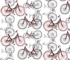 bike fabric by wiccked on Spoonflower - custom fabric