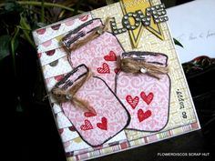 """jars of love - patterned papers (carta bella """"beautiful moments""""); unity stamps (jars of love 3 stamp set)."""
