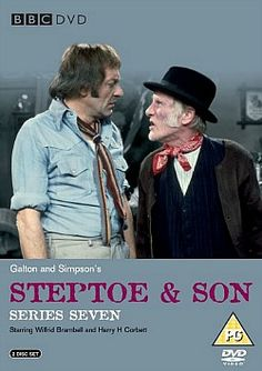 """Steptoe & Son - starring Harry H. Corbett as Harold and Wilfrid Brambell as his """"dirty old man"""" father Albert. British Sitcoms, British Comedy, Steptoe And Son, Nostalgia 70s, My Childhood Memories, 1970s Childhood, Comedy Tv, Television Program, Old Tv Shows"""