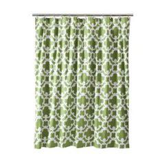 The shower curtain for the bathroom
