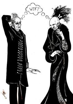 Nosferatu and Anna Varney by MargaritkaD.deviantart.com on @deviantART