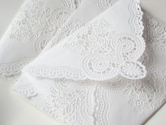 Lace envelopes!