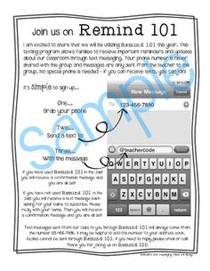 Remind app parent letter editable template remind 101 parent instructions for remind thecheapjerseys Image collections