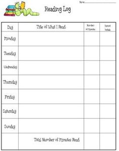 Free printable reading logs with summary printable for Reading log with summary template