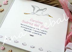 Libro de Nacimiento personalizado. http://www.pihippie.com/p/libro-de-nacimiento.html