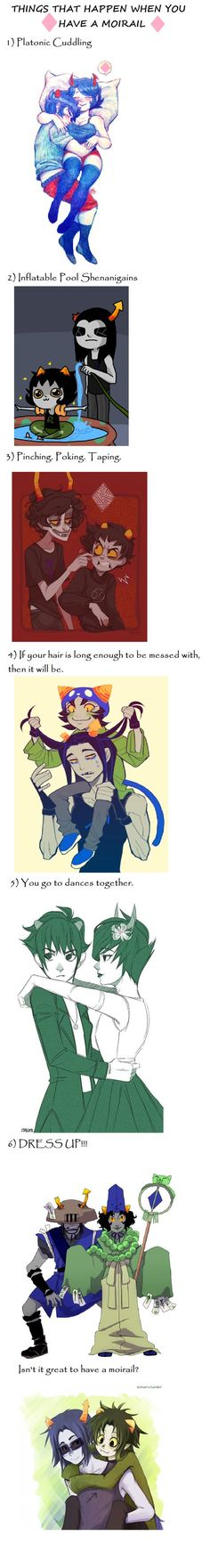 <> #Homestuck #Moirail<< I wish we had this kind of relationship on earth: