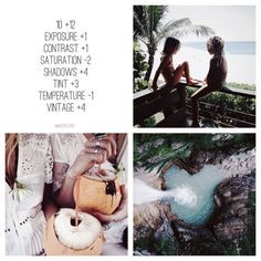 #paid10filtr ❕ IT'S VIGNETTE NOT VINTAGE, OMG ok, so i forgot i made this filter, i'm so clever omg. anyway, this is awesome for a feed! it goes with most type of photos, i like it best with summer photos, nature, boho, ootds maybe, water, tropical... it goes with every colours, buuuut i like it most with blues, greens, white, orange and pink (looks good in all colours). it gives like a lil purple look to the photo that looks amazing! and goes with selfies too! i think that this goes...