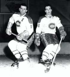 Maurice and Henri Richard Montreal Canadiens, Maurice Richard, Hockey Hall Of Fame, National Sibling Day, Father And Son, Nhl, Old School, Sports, Siblings