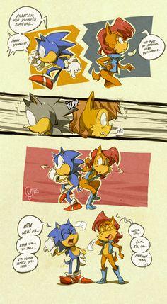 back atcha :feat. Sonic: by edtropolis.deviantart.com on @deviantART
