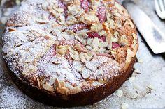 Rhubarb-Almond Cake   www.floatingkitchen.net