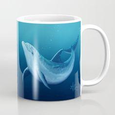 Riversoul Blue ~ Dolphin Mug by Amber Marine ••• AmberMarineArt.com •••