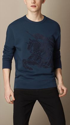 Burberry Brit Embroidered Equestrian Knight Sweatshirt