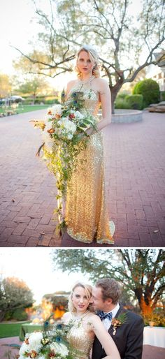 Great Gatsby wedding inspiration #goldwedding #glamwedding #Gatsbywedding #weddingdress #weddingideas