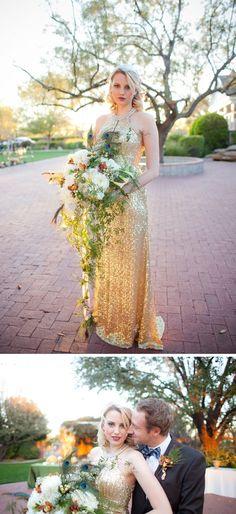 Great Gatsby wedding inspiration #goldwedding #glamwedding #Gatsbywedding #weddingdress #weddingideas