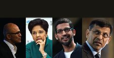 STRONGER TIES (L-r): Microsoft CEO Satya Nadella. (Money Sharma | AFP | Getty Images); Pepsico CEO Indra Nooyi. (Nicholas Kamm | AFP | Getty Images); Google CEO Sundar Pichai. (Justin Sullivan | Getty Images); and Reserve Bank of India Governor Raghuram Rajan. (Manjunath Kiran | AFP | Getty Images)    Today, Indo-U.S. relations encompasses http://siliconeer.com/current/stronger-ties/
