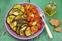Tomato Eggplant Salad: For coming off a detox