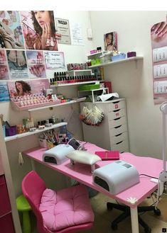 Small space nail station idea home nail salon ideas nail technician room . Home Nail Salon, Nail Salon Design, Nail Spa, Privates Nagelstudio, Space Nails, Nail Room, Nail Studio, Nail Technician, Beauty Room