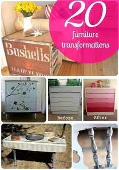 20 Furniture Transformations to inspire YOU!! -- Tatertots and Jello #DIY