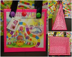 Upcycled Pink Candy Land Board Game Purse by ReFunktionJunktion, $45.00