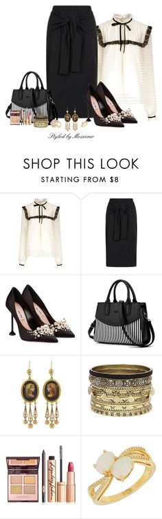 """""""Stylish Fashionista"""" by mozeemo ❤ liked on Polyvore featuring Perseverance London, Topshop, Miu Miu, Daytrip and Lord & Taylor"""