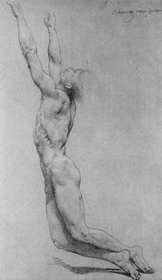 William Adolphe Bouguereau, flagelation of christ, study in pencil.