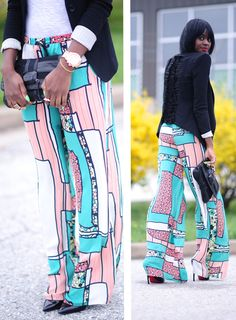 Spring Trends- Wide Leg Trousers - Page 3 - Long Hair Care Forum Fashion Outfits, Fashion Styles, Womens Fashion, Cool Style, My Style, Spring Trends, Wide Leg Trousers, Black Girls, Cute Outfits