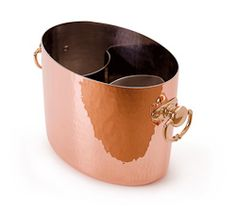 Oval Champagne Bucket. Two Bottles