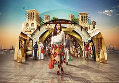 Journey Of Celebration / Campaign for Dubai Shopping Festival which is celebrating its 20th anniversary in 2015.  TBWA\RAAD Elisa Arienti