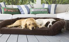 Our chew-resistant dog bed will stand up to the most aggressive chewers.