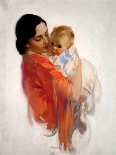 Mothers' Day Art by Haddon Sundblom