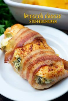Broccoli and Cheese Stuffed Chicken Breasts - these are a favorite with my kids! So cheesy and low carb too! Broccoli and Cheese Stuffed Chicken Breasts - these are a favorite with my kids! So cheesy and low carb too! Low Carb Recipes, Diet Recipes, Cooking Recipes, Low Calorie Chicken Recipes, Diabetic Chicken Recipes, Recipes With Bacon Healthy, Recipies, Low Carb Chicken Dinners, Healthy Tasty Recipes