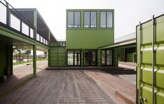 Office Building for Organic Farm Built Out of Shipping Containers