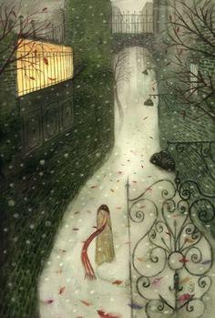 Dia cinza, portão, solidão.
