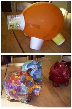 Courrier - bea castelain - Outlook Paper Mache Projects, Paper Mache Clay, Paper Mache Crafts, Paper Mache Sculpture, Paper Clay, Paper Art, Diy For Kids, Crafts For Kids, Arts And Crafts