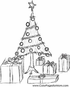 detailed christmas tree coloring pages - Google Search ...