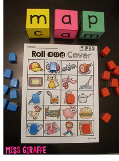 CVC Words Roll - awesome reading center!! Kindergarten Language Arts, Kindergarten Literacy, Preschool, Early Literacy, Reading Centers, Literacy Centers, Writing Centers, Literacy Stations, Reading Groups